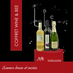 """Box Vin Cadeau - Coffret """"Saveurs douces et sucrées"""""""