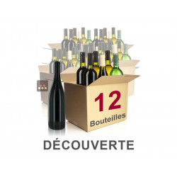 Coffret découverte 12 vins en 2018 - livraison gratuite France