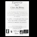 Domaine des Gravennes - Esprit GR - AOC Côtes du Rhône Rouge 2017