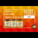 Coffret Miel à Tartiner - 3 pots - 29€ livraison France incluse