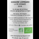 Domaine Lombard La Renommée vin IGP Drôme 2018