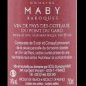 Domaine Maby Baroques IGP Côteaux du Pont du Gard 2020